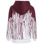 cheap Pullover Splatter Paint Drawstring Hoodie