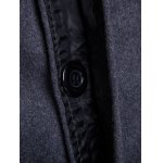 Covered Button Turndown Collar Back Slit Wool Coat for sale