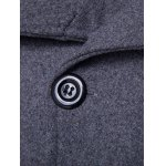 Side Single Breasted Turndown Collar Wool Coat deal