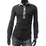Slim Fit Long Sleeve Grid Shirt