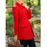 cheap Slimming Long Wool Coat
