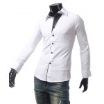 Contrast Color One Button Cuff Shirt deal