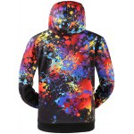 cheap Colorful Splatter Paint Kangaroo Pocket Patterned Hoodies