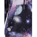 Galaxy Print Kangaroo Pocket Hoodie for sale
