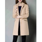 cheap Single Breasted Lapel Cashmere Coat