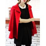 cheap Woolen Double Breasted Skirted Coat