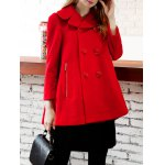 Woolen Double Breasted Skirted Coat deal