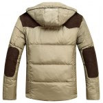 cheap Detachable Hooded Zip Up PU Leather Insert Down Jacket