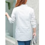 Plus Size Letter Character Printed Shirt deal