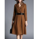 Lapel Wrap Trench Coat With Belt