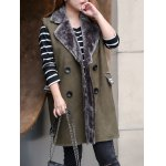 cheap Plus Size Faux Fur Collar Waistcoat