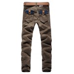 cheap Color Block Pocket Zip Fly Scratched Jeans