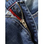 Zip Fly Distressed Tapered Jeans deal