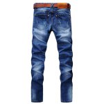 cheap Zip Fly Slim Fit Jeans with Extreme Rips