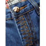 Zip Fly Slim Fit Jeans with Extreme Rips photo