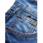 Zip Fly Slim Fit Jeans with Extreme Rips for sale