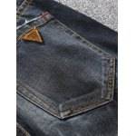 Tapered Fit Zip Fly Scratched Jeans deal