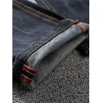 Tapered Fit Zip Fly Scratched Jeans for sale