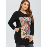 Plus Size Printed Pullover Sweatshirt deal