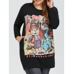 Plus Size Printed Pullover Sweatshirt