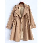 Button Up Drawstring Trench Coat photo