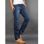 cheap Straight Leg Zip Fly Jeans