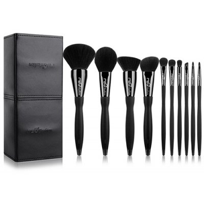 10 Pcs Synthetic Fiber Makeup Brushes Set with Magnet Brush Holder