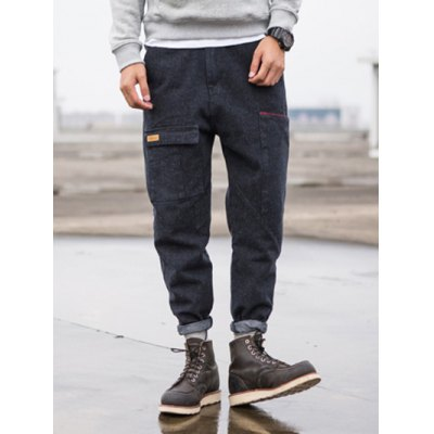 Tapered Fit Zip Fly Pocket Jeans