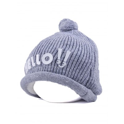 Winter Hello Embellished Chunky Knitted Hat