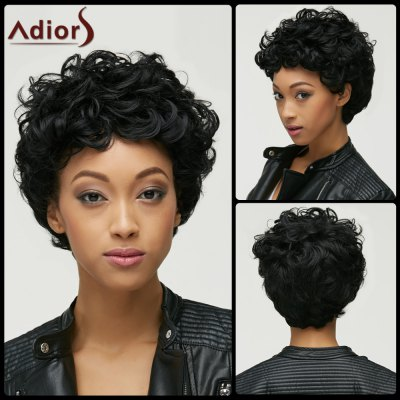 Short Capless Fluffy Curly Synthetic Wig