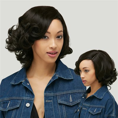 Short Curly Capless Side Parting Synthetic Wig
