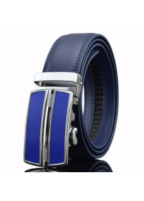 Automatic Buckle Faux Leather Belt