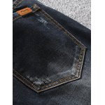 Zip Fly Scratched Tapered Jeans for sale