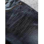 Zip Fly Scratched Tapered Jeans deal