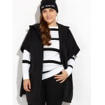 cheap Hooded Open Front Cape Coat