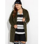 cheap Plus Size Long Wool Coat with Pockets