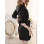 Belted Lace Spliced Sleep Robe for sale
