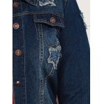 Plus Size Buttoned Star Graphic Denim Jacket photo