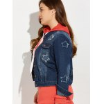 Plus Size Buttoned Star Graphic Denim Jacket deal
