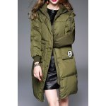 Twin Pocket Hooded Down Coat