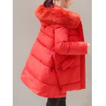 High Low Down Coat With Fur Hooded deal