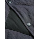 best Button Up Panel Hooded Quilted Jacket