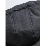 Button Up Panel Hooded Quilted Jacket for sale