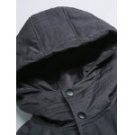 Button Up Panel Hooded Quilted Jacket deal