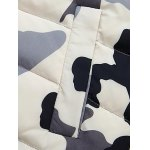 Zip Up Camouflage Hooded Quilted Coat photo