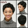 Ultrashort Pixie Cut Fluffy Curly Synthetic Wig