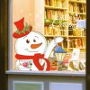 Merry Christmas Snowman Shop Showcase Wall Stickers deal