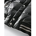 Zip Up Patch Design Printed Quilted Jacket for sale