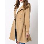 Skirted Hooded Long Wrap Duffle Coat for sale
