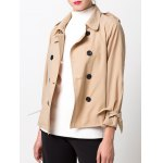 Epaulet Double Breasted Jacket for sale